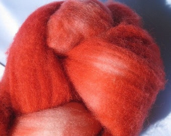 Raspberry- Superwash Merino Wool Roving 4.25 oz. for Spinning