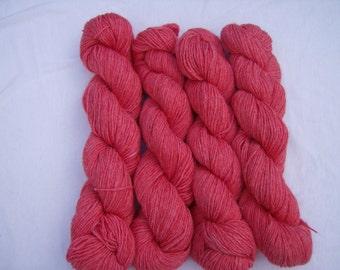 Guava- Hand-dyed Alpaca/ Wool 200yds. per skein