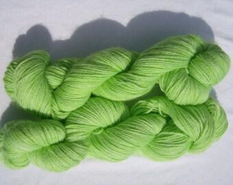 Lime- Hand-dyed Alpaca / Wool 200 yds. per skein Yarn