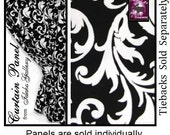 Use Code GET20 for Holiday Discount ends 121315 Black White Scroll Window Tier Modern Bedroom Kitchen Curtain Idaho Gallery