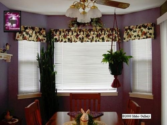 Vineyard Tuscany Grape Valances Curtains Burgundy By
