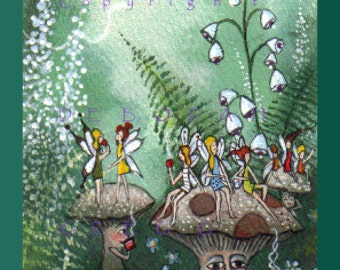 Morning Tea   an Aceo PRINT from my original