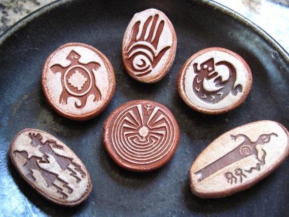 Set of  6 Rock Art Magnets
