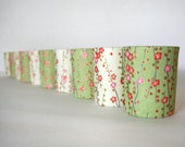 10 Custom Paper Wrapped Candle Holders / Wedding Favors / Centerpieces / Choose Your Pattern / Personalized