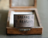 DREAMS TO REALITY unisex leather cuff