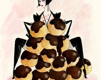 Siouxsie Choux 5x7 inch hand glittered greetings card