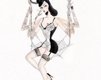 Magenta Lovelace 5x7inch glittery greetings card