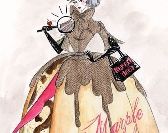 Marple Cake 5x7inch handmade greetings card
