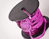 10 yards, Hot Pink Sequin Trim