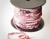 80 yard full spool, Light Pink Single Strand Sequin Trim