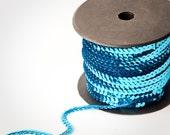 10 yards, Aqua Turquoise Single Strand Sequin Trim