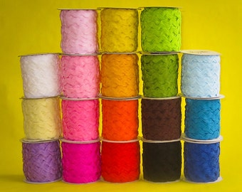 RICK RACK, 5/8ths inch, 2 colors of Ric Rac, 25 yard spools, colors are buyers choice, 50 yards total