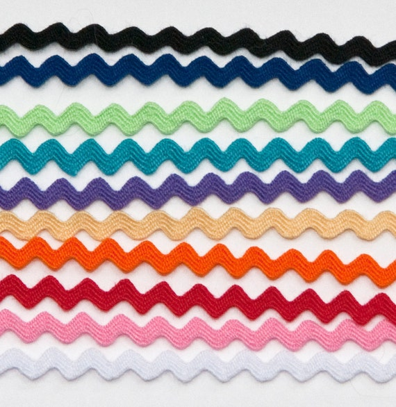 MINI Ric Rac, 1/8ths inch, 10 Color Bundle, 2 yds. of each, 20 yards total