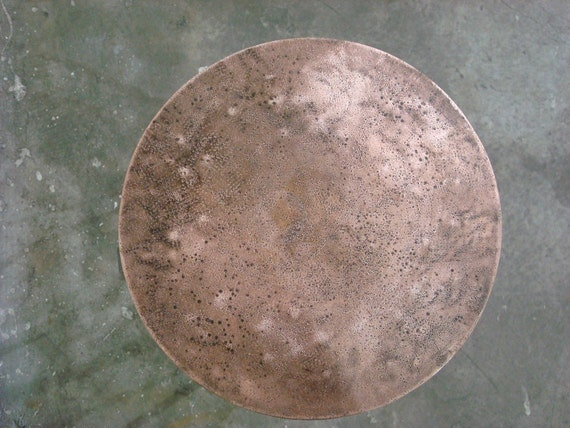 Steel stool (or table) with Copper Seat