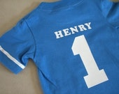 Infant Toddler Boys First 1st Birthday Jersey Stripe Customized Shirt 12m 18m 24m 2T