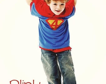 Toddler Boys 4th Fourth Birthday Superman Superhero Birthday Shirt 4T 5T