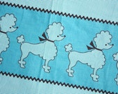 Poodles on Parade -- Vintage Fabric