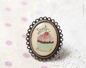 Pink Cupcake ring (R008)
