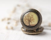 Autumn Tree pocket watch necklace - Photo jewelry - Autumn jewelry  (PW019)