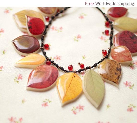 Autumn Leaf necklace (BN010)