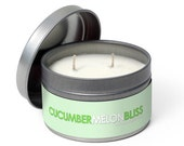 SALE 4oz Cucumber Melon Soy Candle (tin)