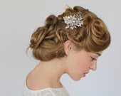 Ivory Pearl  Bridal Hair Comb, Wedding Crystal Comb, Vintage Inspired Wedding Hair Accessories, Large Crystals and Pearls Hair Comb