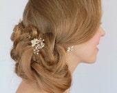 Wedding Hair Pins ,Wedding Bobby Pins, Pearl Bridal Pins , Pearl Vine Pins ,Pearl Crystal Wedding Hair Pins , Hair Accessories , Flower Pins