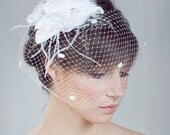 Birdcage Polka Dots Veil, Blusher Net Birdcage Veil - Style 211- Made to Order