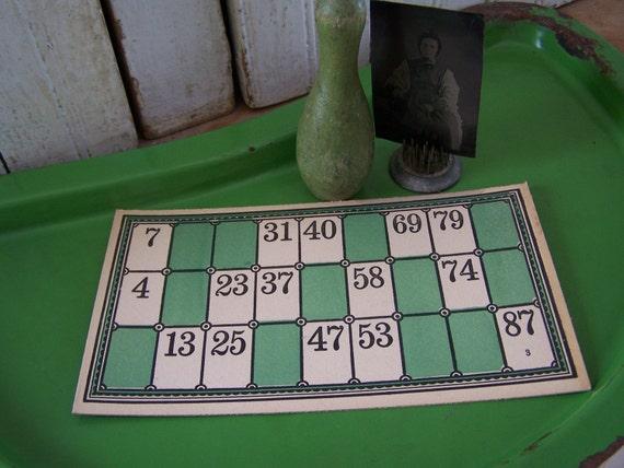 Vintage Green Enamel Tray