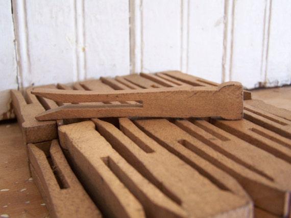 SALE - Antique 48 Wood Clothes Pins