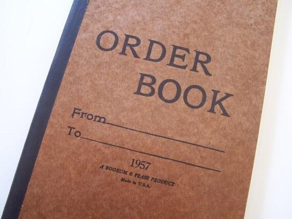 Vintage Ledger Book - Blank 1957