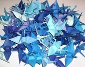 96 Origami Cranes Origami Paper Cranes Paper Crane Origami Crane - 7.5cm 3 inches Japanese Paper - 12 Blue Colors - Small