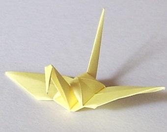 100 Small Origami Cranes Origami Paper Cranes Paper Crane Origami Crane - Made of 7.5cm 3 inches Japanese Paper - Cream