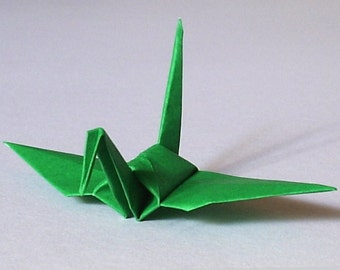 100 Small Origami Cranes Origami Paper Cranes Paper Crane - Made of 7.5cm 3 inches Japanese Paper - Green