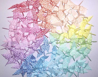 105 Small Origami Cranes Origami Paper Cranes Paper Crane - Made of 7cm Japanese Paper - 15 Colors