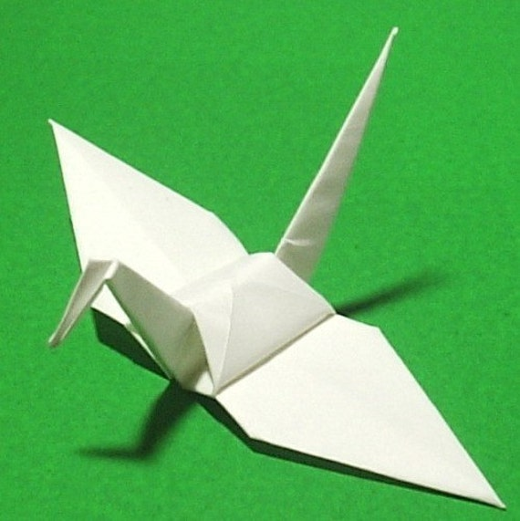 100 Origami Cranes Origami Paper Cranes Paper Crane - 10cm 4 inches Japanese Paper - White