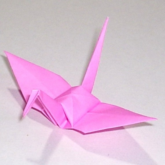 100 Small Origami Cranes Origami Paper Cranes - Made of 7.5cm 3 inches Japanese Paper - Light Pink