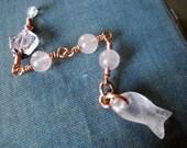 Rose Quartz Water Element Fish Unique Pendulum