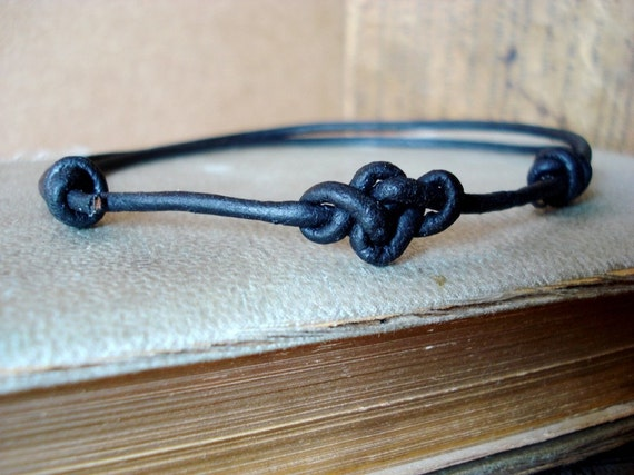 Leather Eternity Knot Anklet NEW Colors