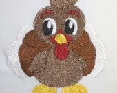 THANKSGIVING TURKEY Embroidered Flour Sack / Hand / Bath Towel  / Apron