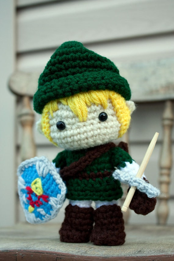 Legend of Zelda Link crochet amigurumi doll by FallenDesigns