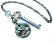 RESERVED- April Showers Vintage Key Necklace