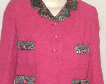Vintage 1950's Boucle Career Suit Koupy Anthony Charles Fenwick's Small