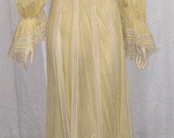 Vintage Edwardian Victorian Era Dress Skirt Blouse Large Steampunk
