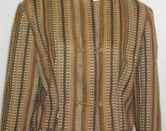 Vintage 1940's 1950's Wool Career Dress Suit Medium Large