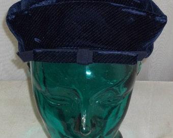 Vintage Amy New York Blue Velvet NY Hat Bright Size 21