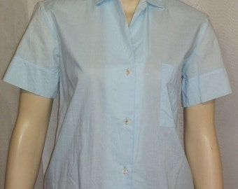 Vintage 1960's Fenn Wright & Manson Secretary Blouse Shirt Top Small 1