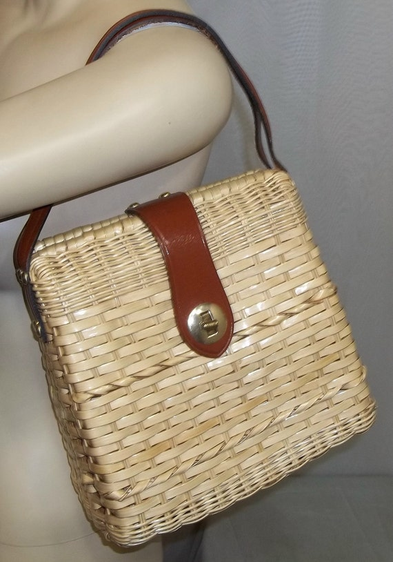 Vintage Marchioness Macy's Straw Wicker Purse Handbag Bag Clutch