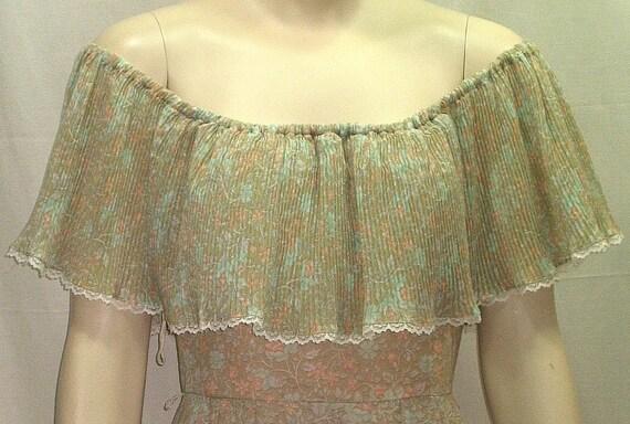Vintage CANDI JONES Long Prairie Dress Size 11 Tall BOHO Sundress 1970's 1960's