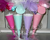 Birthday Bash Embossed Soda Pop Paper Cones (16 count)